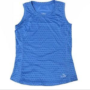 Gym Tank Top XS Blue Fitter Sleeveless Pocket Yoga